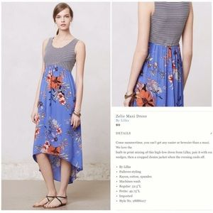 Anthropologie lilka zelie maxi floral dress